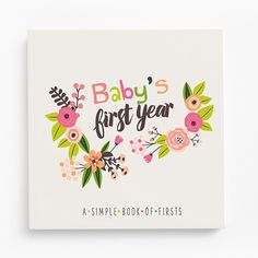 Baby's First Year Memory Book (floral)