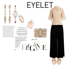"""Elegance"" by marianti on Polyvore featuring Valentino, Chloé, Forever Unique, Fernando Jorge, DKNY, Summer, Elegance and eyelet"