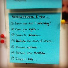 Design thinking & you