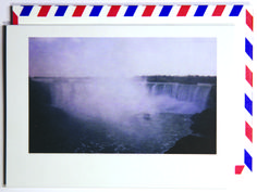 Stand in front of great things.  Polaroid shot in Niagara Falls, Canada. Each notecard is 3.5 x 4.9, printed on crisp, white 14 pt. stock and tucked into a nostalgic airmail envelope.