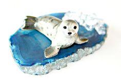 Arctic Seal Sculpture  Miniature Collectible by MeiFaithStudio, $28.00