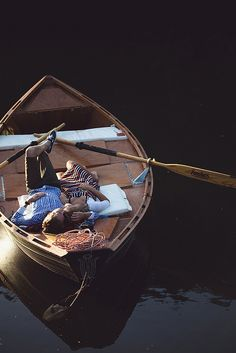 Rowboat romance - private moment captured.