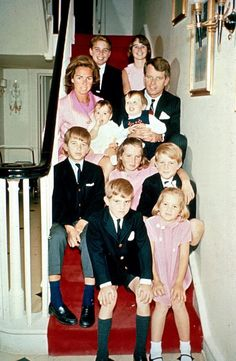 Bobby Kennedy and his family re-populating the world.
