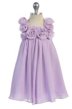 Purple Chiffon Flower Girl Dresses