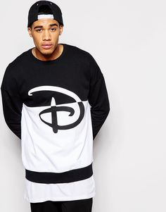 Order ASOS Oversized Sweatshirt With Disney Print online today at ASOS for fast delivery, multiple payment options and hassle-free returns (Ts&Cs apply). Get the latest trends with ASOS. Mens Sweatshirts, Hoodies, Disney Style, Fashion Killa, Fashion Online, Street Wear, Asos, Street Style, Mens Tops