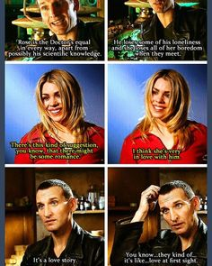 This fills my heart like you don't even know. Rose and The Doctor are my OTP. And that's any Doctor -any of Rose's Doctors- or TenToo. I'm just so glad TenToo was created so that she gets to stay with him for the rest of her life. Serie Doctor, Ninth Doctor, First Doctor, Space Man, Rose And The Doctor, Doctor Who Rose Tyler, Doctor Who 9, Christopher Eccleston, Billie Piper