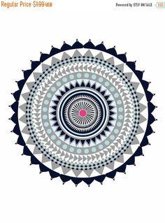 20% Off Sale Aztec Mandala Fusion Printable Mandala by AmoreBeaute