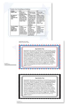 Vocabulary Download: Ask students to create a holiday based around a vocabulary word, and then write a one paragraph (or more) rationale for the day.  #Edchat #Engchat #Vocabulary #CommonCore
