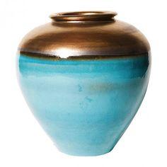 Turquoise Blue Sunrise Jar