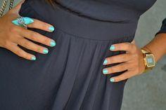 Beach Blue Nails