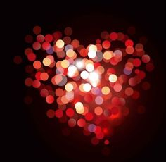 Free Valentine Bokeh Heart Vector Background