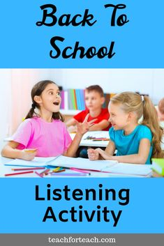 One of the best back to school tips I have ever received was to start the year with fun and engaging activities. I have used listening and following directions activities in elementary, middle school and even high school classrooms to show students the importance of listening skills. This back to school listening activity can be set up as a center or used a whole class game to challenge your students to improve their following directions skills. Back To School Hacks, Back To School Activities, School Tips, Classroom Activities, Learning Activities, Listening And Following Directions, Following Directions Activities, Active Listening, Listening Skills