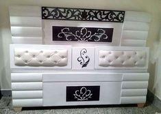 Bedroom Tv Wall, Bedroom Bed Design, Bedroom Furniture Design, Bed Furniture, Home Decor Furniture, Bedroom Decor, Box Bed Design, Bed Back Design, Corner Sofa Design