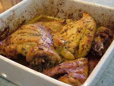 Receita de Frango assado com Açafrão .:. Kitchenet .:. Livro de culinária do aeiou