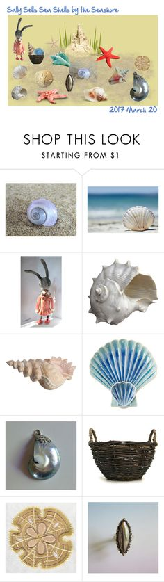 """""""Sally Sells Sea Shells by the Seashore"""" by anna-ragland ❤ liked on Polyvore featuring Oly, Juliska and vintage"""