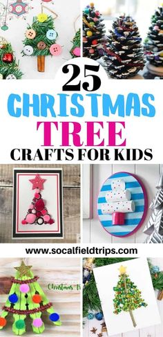 Are you looking for a fun holiday craft to do with kids? Then check out this list of 25 Easy Christmas Tree Crafts For Kids which includes trees made of pinecones, gumdrops, buttons and more. Homemade Christmas Tree, Handprint Christmas Tree, Christmas Tree Garland, Christmas Crafts For Kids To Make, Christmas Tree Painting, Christmas Tree Crafts, Christmas Activities, Simple Christmas, Holiday Crafts