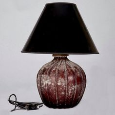 Mid Century Seguso Vetri dArt Deep Red Murano Glass Lamp