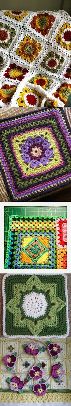 Not only grandmother's square ... (ideas for inspiration).