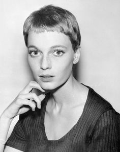 Mia Farrow, 1965/ Although her pixie cut is widely attributed to Vidal Sasoon's handiwork in 1967, Mia actually cut her own hair with a pair of fingernail scissors in 1965, while working on the TV show Peyton Place.