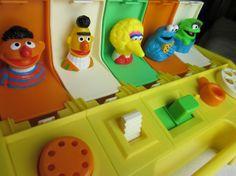 Circa 1985, Sesame Street themed Playskool Poppin' Pals