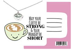 "Express your coffee love with our Olive Funny Puns Birthday Cards, Necklace Gifts for Coffee Lovers. These ""puntastic"" funny birthday cards, featuring a cute coffee necklace, will surely brighten the day of any coffee lovers."