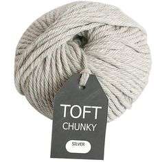 Buy Toft Chunky Yarn, 120g, Silver Online at johnlewis.com