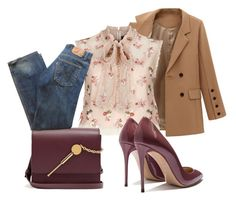 """""""Untitled #165"""" by rafaela-morgado on Polyvore featuring Needle & Thread, Sophie Hulme and Levi's"""