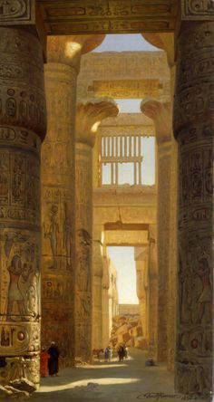 "laclefdescoeurs: ""Temple of Karnak, the Great Hypostyle Hall, 1890, Ernst Karl Eugen Koerner """