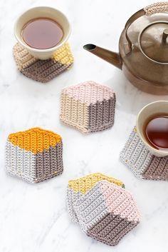 3D-Style Untersetzer In Tapestry Häkeltechnik