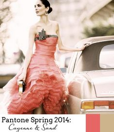 Pantone Spring 2014 Colour Report - Cayenne and Sand
