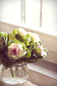...pretty bouquet in ordinary jar!