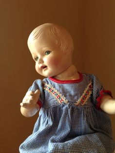 Vintage Composition Doll Beautiful Face by StylishPiggy on Etsy, $65.00
