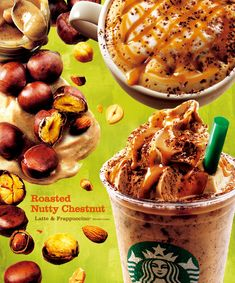 Starbucks Coffee Japan - スターバックス コーヒー ジャパン Starbucks Specials, Starbucks Menu, Starbucks Coffee, Food Design, Menu Design, Candy Recipes, Dessert Recipes, Coffee Advertising, Bubble Milk Tea