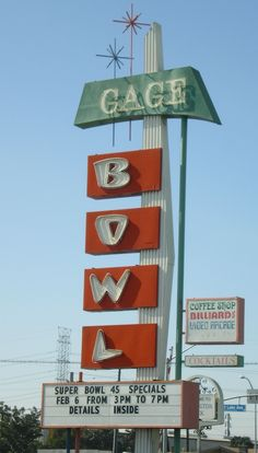 Gage Bowl, Huntington Park, CA  Googie Architecture