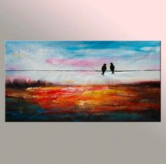 """See our website for more information on """"contemporary abstract art painting"""". It is an excellent spot to learn more. Love Birds Painting, Large Painting, Texture Painting, Contemporary Abstract Art, Modern Art, Art Paintings For Sale, Paintings Online, 3d Max, Hanging Art"""