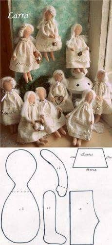 Alapján Tilda - Princess and the Pea Doll Crafts, Diy Doll, Sewing Crafts, Sewing Projects, Doll Clothes Patterns, Doll Patterns, Fabric Dolls, Paper Dolls, Sewing Dolls
