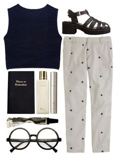 """be my star"" by rosiee22 ❤ liked on Polyvore featuring Miu Miu, J.Crew, Leathersmith, Ilia, Christian Dior, Aesop and modern"