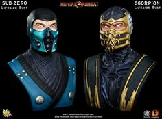 Subzero / Scorpion Life size bust,PoP culture