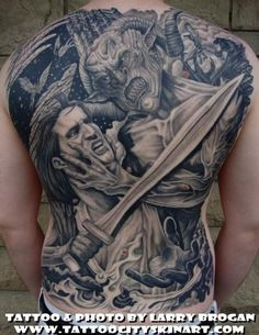 angels vs demons war tattoo - photo #7