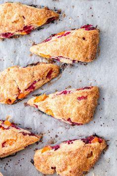 The Flakiest Apricot & Raspberry Crème Fraîche Scones- The Brick Kitchen