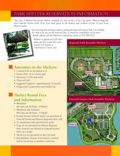 PARK SHELTER RESERVATION INFORMATION - The City of Weston #LoveYourHome #WestonFL
