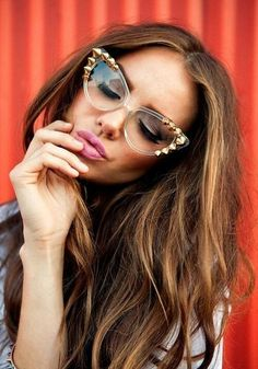 Embellished studded Cat-Eye sunglasses is one way to show individuality  from the modern classic 59b8e302b4e9