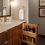 best small bathroom storage ideas for . We've already done the work for you when it comes to finding and curating small bathroom storage ideas. Bad Inspiration, Bathroom Inspiration, Bathroom Ideas, Bathroom Designs, Hidden Storage, Iron Storage, Extra Storage, Hidden Shelf, Smart Storage