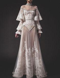 "aishwaryaaraiii: ""Top 5 Looks from Krikor Jabotian SS 2019 Collection "" Elegant Dresses, Pretty Dresses, Robes Vintage, Vintage Dresses, Fantasy Gowns, Prom Dresses, Wedding Dresses, Mode Outfits, Dream Dress"