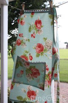 Pretty apron - I like the fabric and the trim