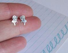 Sterling Silver Pug Earrings