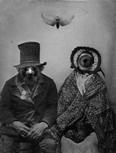 Weird Vintage Photographs | ... oddities vintage black and white art photoshop scary creepy strange