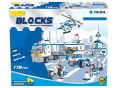 Blocos de Montar 779 Peças Bee Blocks - Quartel da Polícia 1957 Bee Me Toys