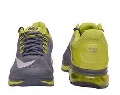 men shoes Nike Air Max Excellerate 2+ Running Gray Black Volt Size 9.5 new #