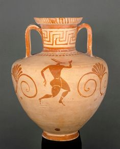 Amphora with trifid neck and handles (550-540 BC), Camiros, Rhodes - Louvre